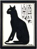 Egyptian Cat Tile Hand Painted by Besheer Art Tile