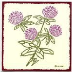 Red Clover Tile, Wall Plaque, Trivet