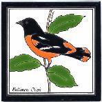 Baltimore Oriole Tile,Baltimore Oriole Wall Plaque,Baltimore Oriole Trivet