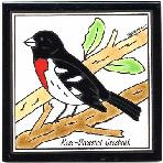 Rose-Breasted Grosbeak Tile,Rose-Breasted Grosbeak Wall Plaque,Rose-Breasted Grosbeak Trivet