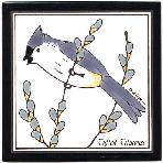 Tufted Titmouse Tile,Tufted Titmouse Wall Plaque,Tufted Titmouse Trivet