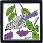 Cat Bird Tile,Cat Bird Wall Plaque,Cat Bird Trivet