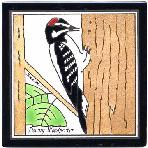 Downy Woodpecker Tile,Downy Woodpecker Wall Plaque,Downy Woodpecker Trivet