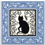 CA-10 Garden Cat, Blue Victorian Border